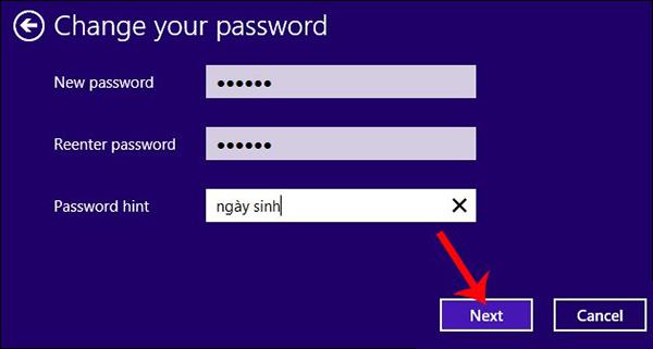 Làm thế nào để cài mật khẩu cho máy tính window 8, 8.1?