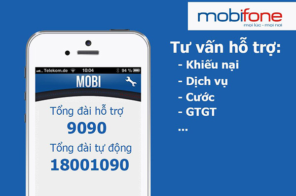 Số tổng đài Mobifone là số mấy?